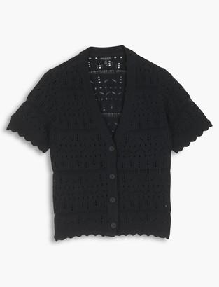 Short Sleeve Button Cardigan