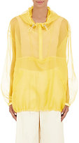Maison Margiela Women's Organza Hooded Anorak-YELLOW