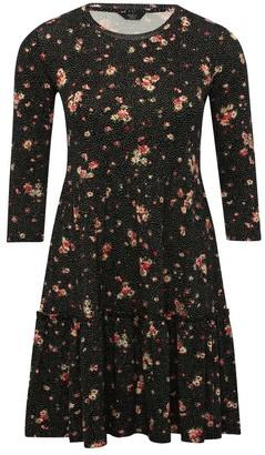 M&Co Petite floral smock dress