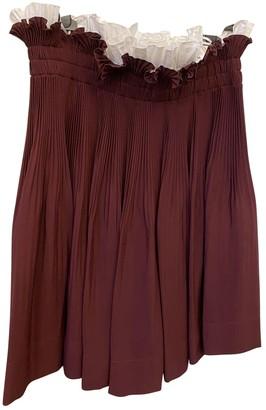 N°21 N21 Burgundy Silk Skirt for Women