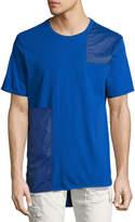 Mostly Heard Rarely Seen Tonal Patchwork T-Shirt, Blue