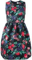 MSGM floral print dress - women - Acrylic/Polyamide/Polyester/Metallic Fibre - 40