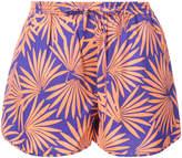 Diane von Furstenberg tropical print shorts
