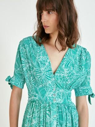 Suncoo Calida Dress In Green - 6