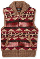 RRL - Shawl-Collar Linen, Silk, Wool, Cotton and Mohair-Blend Gilet