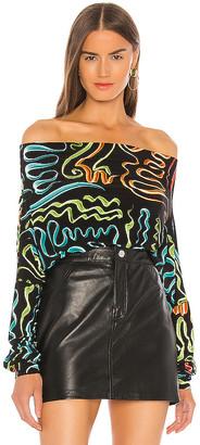 Norma Kamali Off Shoulder All In One Bodysuit