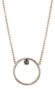 Black Diamond Zoe Chicco Women's 14K Rose Gold & Medium Circle Pendant Necklace