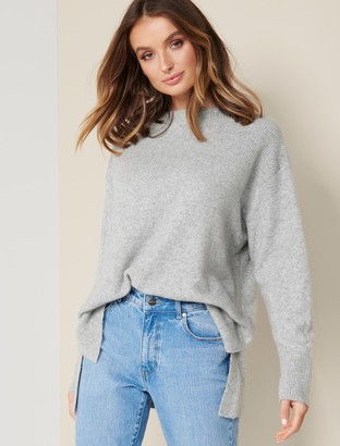 Forever New Zoey Grown On-Neck Jumper - Iced Grey - l
