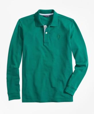 Brooks Brothers Boys Long-Sleeve Cotton Pique Polo Shirt