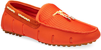 Swims Men's Lux Tassel Water Loafers, Orange