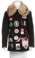 Libertine Fall 2015 Fur-Trimmed Patch Coat