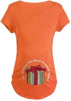 Ninimour- Women's Caucasian Baby Peeking T Shirt Funny Maternity Tee