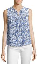 Rebecca Taylor Aimee Floral Silk Top, Multi