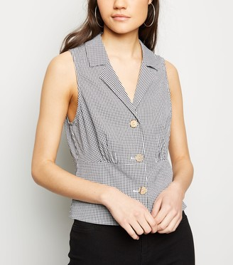 New Look Gingham Sleeveless Shirt