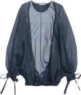 Antonio Berardi Silk-organza Jacket - Navy