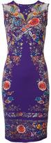 Roberto Cavalli lace up abstract print dress - women - Cotton/Spandex/Elastane/Viscose - 48