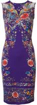 Roberto Cavalli lace up abstract print dress - women - Spandex/Elastane/Viscose/Cotton - 40