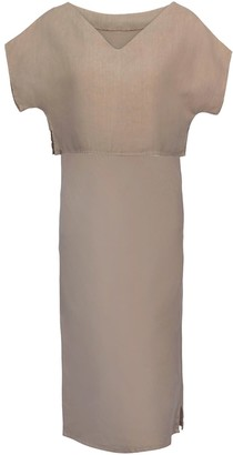 Cannes Linen Dress & Top Set In Stone