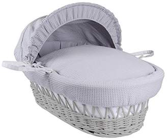 Clair De Lune Waffle White Wicker Moses Basket