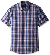Arrow Men's Big and Tall Short Sleeve Seaside Textured Solid Shirt