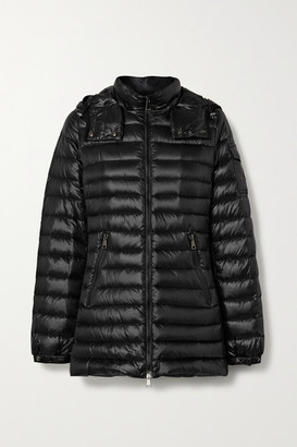 Moncler Menthe Hooded Quilted Shell Down Jacket - Black