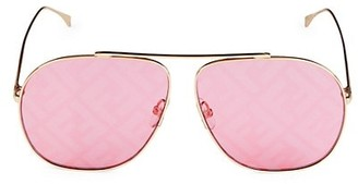Fendi 64MM Aviator Logo Sunglasses