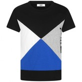 MSGM MSGMBoys Black Geometric Top