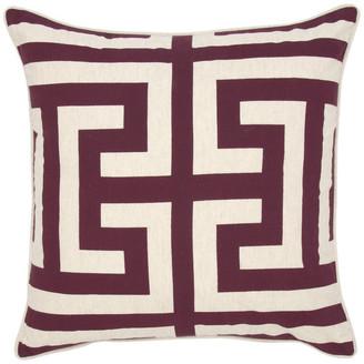 "Kosas Lana Printed 22"" Throw Pillow, Burgundy by Home"