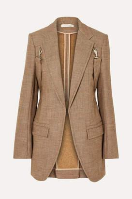 Chloé Buckled Tweed Blazer - Brown