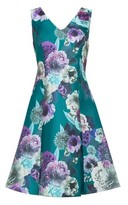 Dorothy Perkins Womens Luxe Green Jade Floral Print Prom Dress, Green