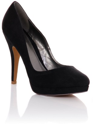 Paper Dolls Black Classic Stiletto Court Shoes