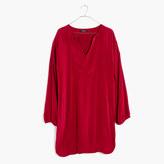 Madewell Du Jour Three-Quarter Sleeve Tunic Dress