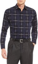 Hart Schaffner Marx Large Plaid Long-Sleeve Sportshirt