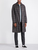 Camoshita Checked shell coat