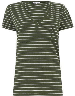 Warehouse Linen Stripe T-Shirt