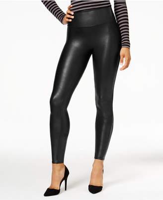 Spanx Women Petite Faux-Leather Tummy Control Leggings