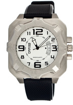 Breed Silver & White Ulysses Swiss Watch