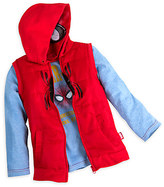 Disney Spider-Man Long Sleeve Tee and Hooded Vest Set for Boys
