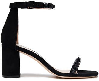Stuart Weitzman Rosemarie 75 Studded Suede Sandals