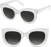 Women's Perverse Repost Cat Eye Sunglasses - Clear/ Black