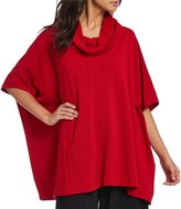 Bryn Walker Cowl-Neck Bamboo French Terry Poncho