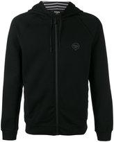 Fendi logo zip hoodie - men - Cotton/Polyester - 46