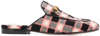 Gucci Checked Woven Slippers