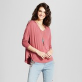 Mossimo Women's Softest Long Sleeve V-Neck T-Shirt