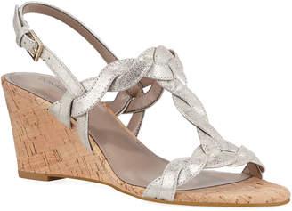 Donald J Pliner Metallic T-Strap Wedge Sandals