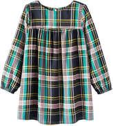 Joe Fresh Kid Girls' Long Sleeve Baby Doll Dress, JF Midnight Blue (Size S)
