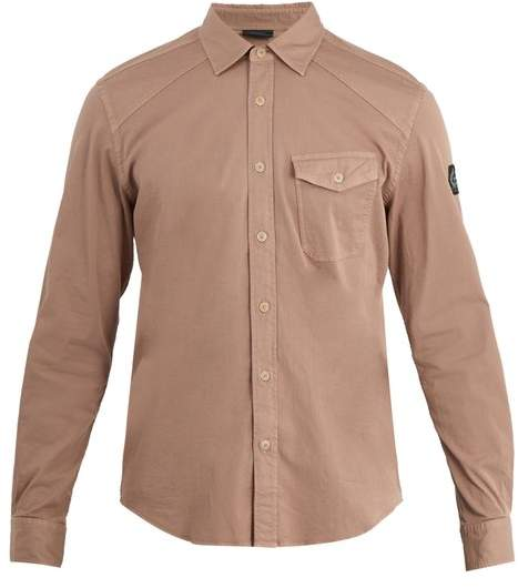 Belstaff - Steadway Single Cuff Stretch Cotton Shirt - Mens - Pink