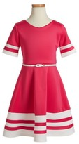 Blush by Us Angels Girl's Scuba Fit & Flare Dress