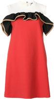 MSGM ruffle detail dress - women - Cotton/Polyamide/Polyester/Spandex/Elastane - 40