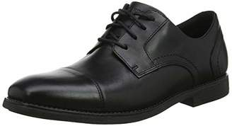Rockport Men's Slayter Cap Blucher Black Oxfords, 001), 7 (40.5 EU)